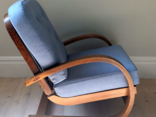 Cantilever mid century chair